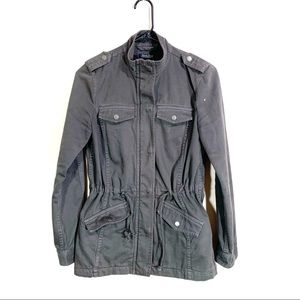 Lucky Brand Gray Military Jacket